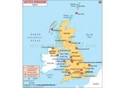 UK Airports Map - Digital File