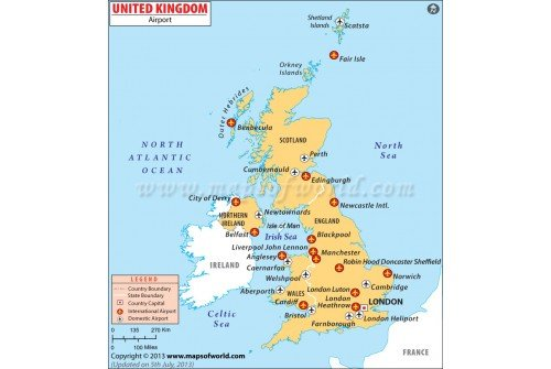 Map Of England Showing Airports.Buy Uk Airports Map