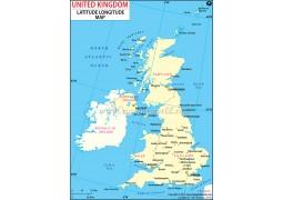 United Kingdom Latitude and Longitude Map - Digital File