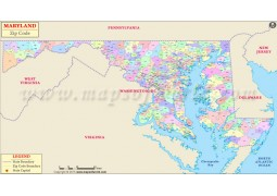 Maryland Zip Code Map - Digital File