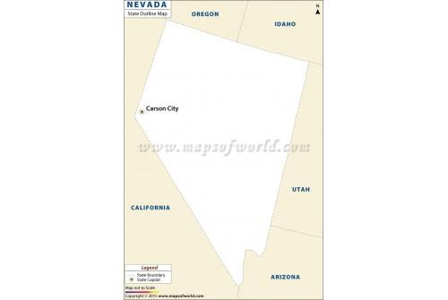 Nevada Outline Map