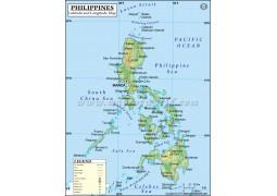 Philippines Latitude and Longitude Map - Digital File