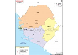 Sierra Leone Portuguese Map - Digital File