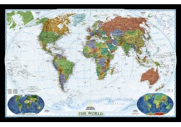 """World Decorator [Enlarged and Laminated] 73"""" W x 48"""" H"""
