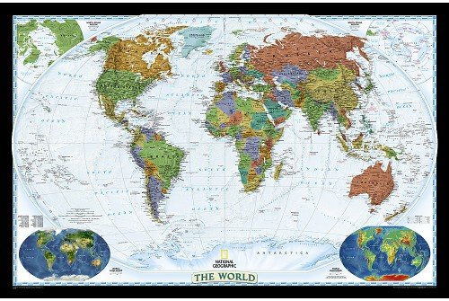 "World Decorator [Enlarged and Laminated] 	73"" W x 48"" H"