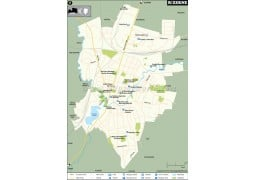 Rezekne City Map - Digital File