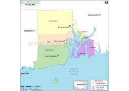 Rhode Island County Map - Digital File