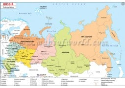 Russia Political Map - Digital File