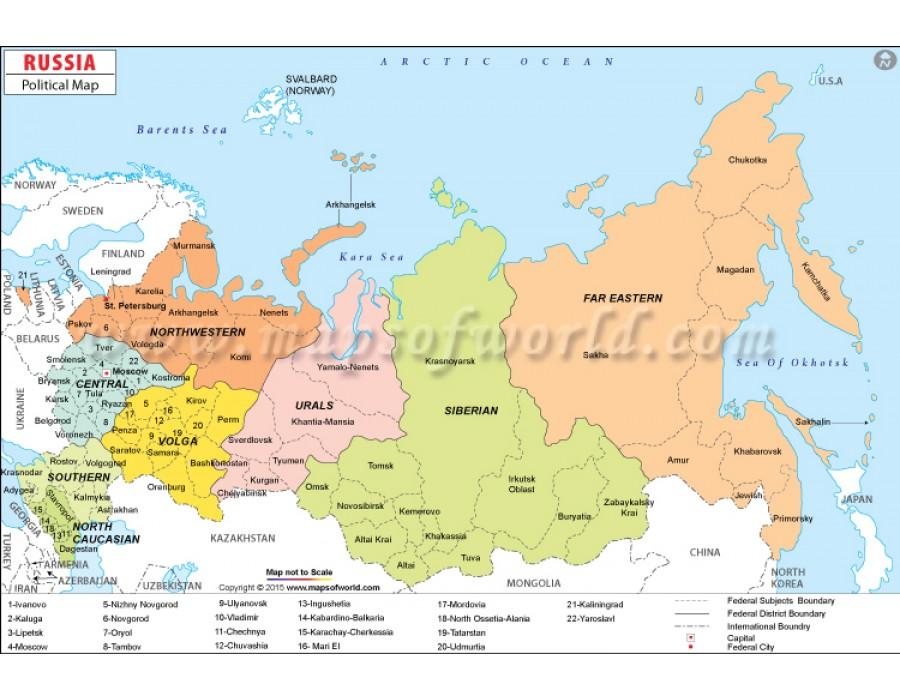RussiaPoliticalMap750Px900x700jpg