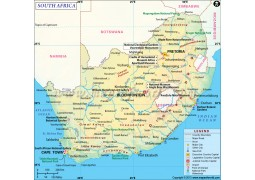 South Africa Map - Digital File
