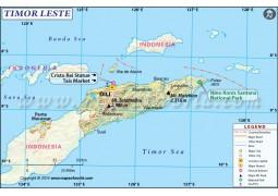 Timor Leste Map - Digital File