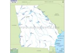 Georgia River Map (USA) - Digital File