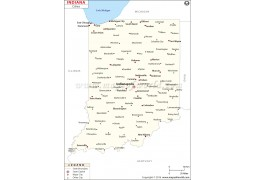 Map of Indiana Cities - Digital File