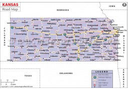 Kansas Road Map - Digital File