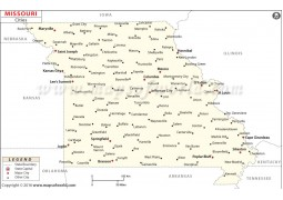 Missouri Cities Map - Digital File