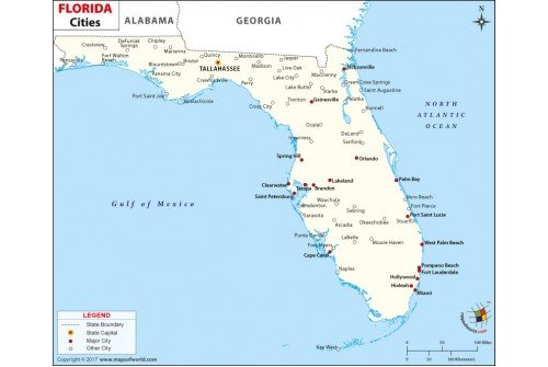 Florida Cities Map