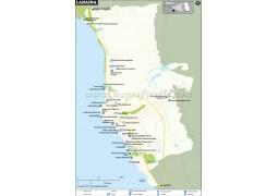 Lahaina City Map, Hawaii