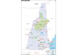 Map ofNew Hampshire - Digital File