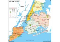 New York City Map - Digital File
