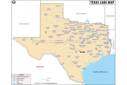 Texas Lakes Map