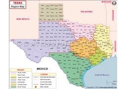 Texas Region Map - Digital File