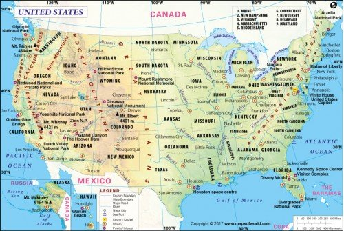 Buy USA Map Digital USA Map - Picture of usa map