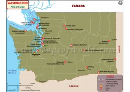 Washington Airports Map - Digital File