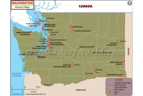 Washington Airports Map