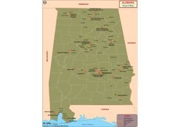 Alabama Airports Map
