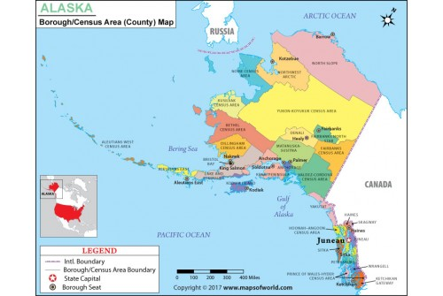Buy Alaska County Map