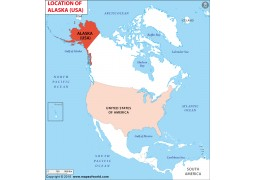 Alaska Location Map - Digital File
