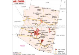 Arizona Golf Courses Map