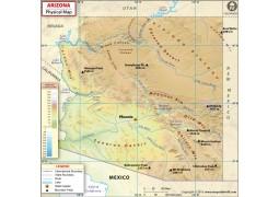Physical Map of Arizona - Digital File