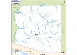 Arizona River Map - Digital File