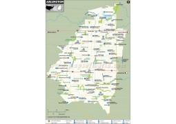 Arlington City Map, Texas