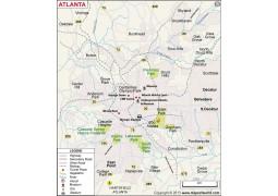 Atlanta City Map - Digital File