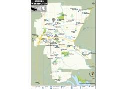 Auburn Map, Washington