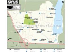 Bardonia City Map, New York