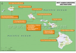 Map of Hawaii Wedding Destinations - Digital File