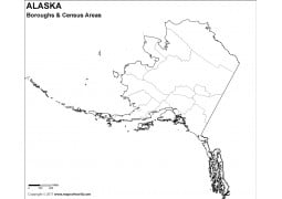 Blank Alaska Borough Map