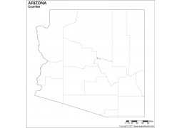 Blank Arizona County Map