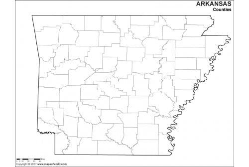 Blank Arkansas County Map