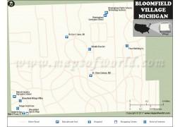 Bloomfield Hills City Map, Michigan - Digital File