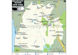 Briarcliff Manor Village Map, New York