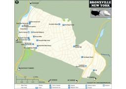 Bronxville Village Map, New York - Digital File