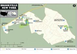 Brookville Village Map, New York - Digital File