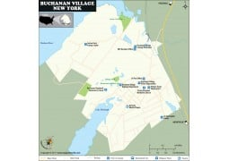 Buchanan Village Map, New York - Digital File