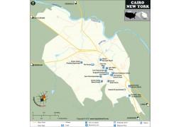 Cairo Map, New York - Digital File