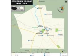 Caledonia Village Map, New York - Digital File