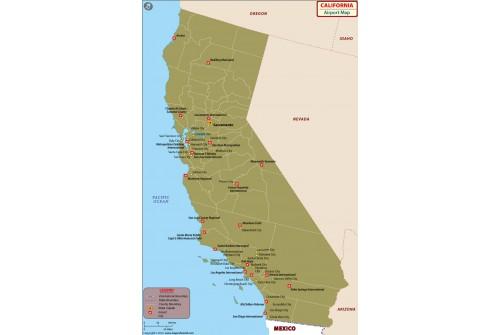 California Airports Map